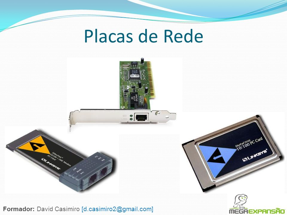 Placas de Rede Formador: David Casimiro [d.casimiro2@gmail.com]